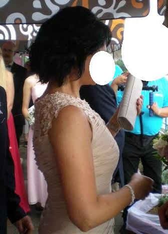 Dlhé spoločenské šaty vo farbe champagne - Obrázok č. 3