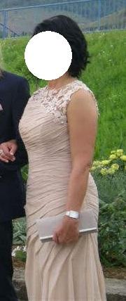 Dlhé spoločenské šaty vo farbe champagne - Obrázok č. 4