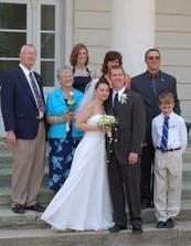 Rodina Smith. chybi akorat Mikova sestra Dawn s rodinou