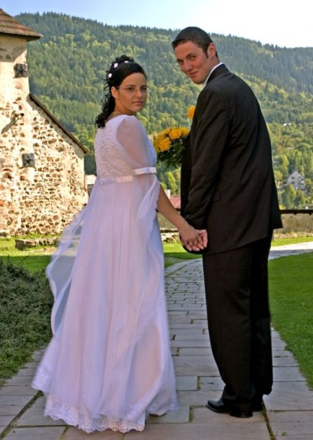Majka{{_AND_}}Peťko - Fotografovali sme sa pri zámku v Kremnici.