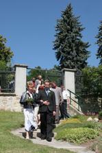 Nástup svatebčanů