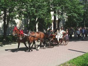 Splnený Jankov sen-  odviezť si nevestu v kočiari s koníkmi