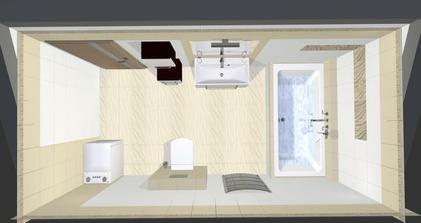 Vizualizace koupelny ...