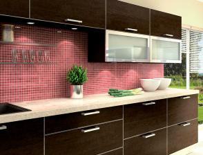 ... tak nakonec bude tahle kuchyňka ... se mi víc hodí k obývacímu pokoji, se kterým bude úzce propojena ...