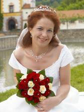 Portrét nevěsty s kyticí