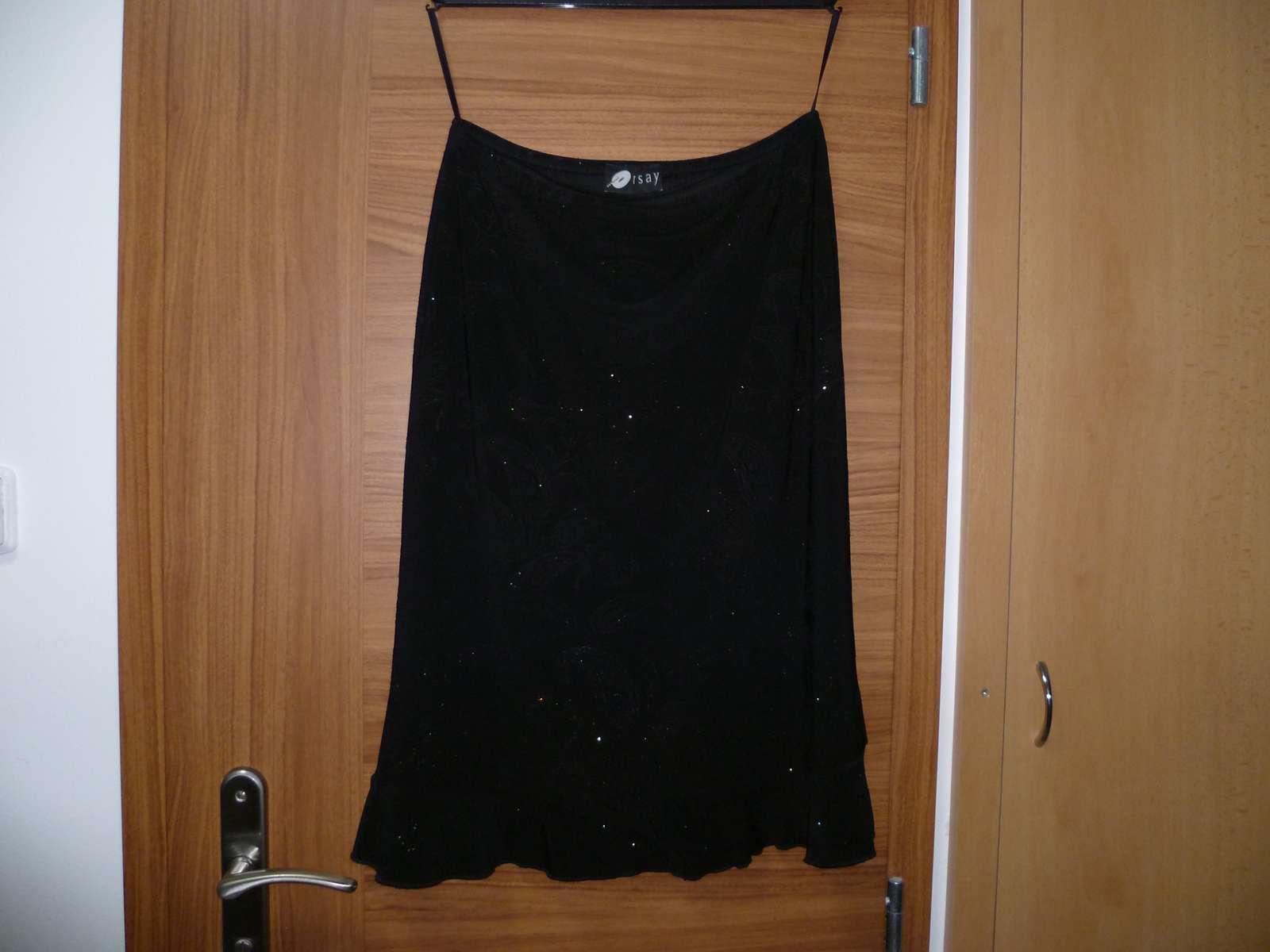 Orsay černá sukně s třpytkami - Obrázek č. 1