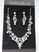 Set náhrdelník + naušnice s perličkami,
