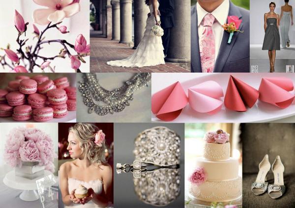 Gray vs. soft pink - Touhle to začalo :), zvolená kombinace.