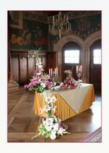 Naše květinová výzdoba  v Rytířském sále.