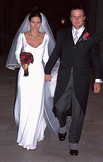 Svadby známych - courteney cox