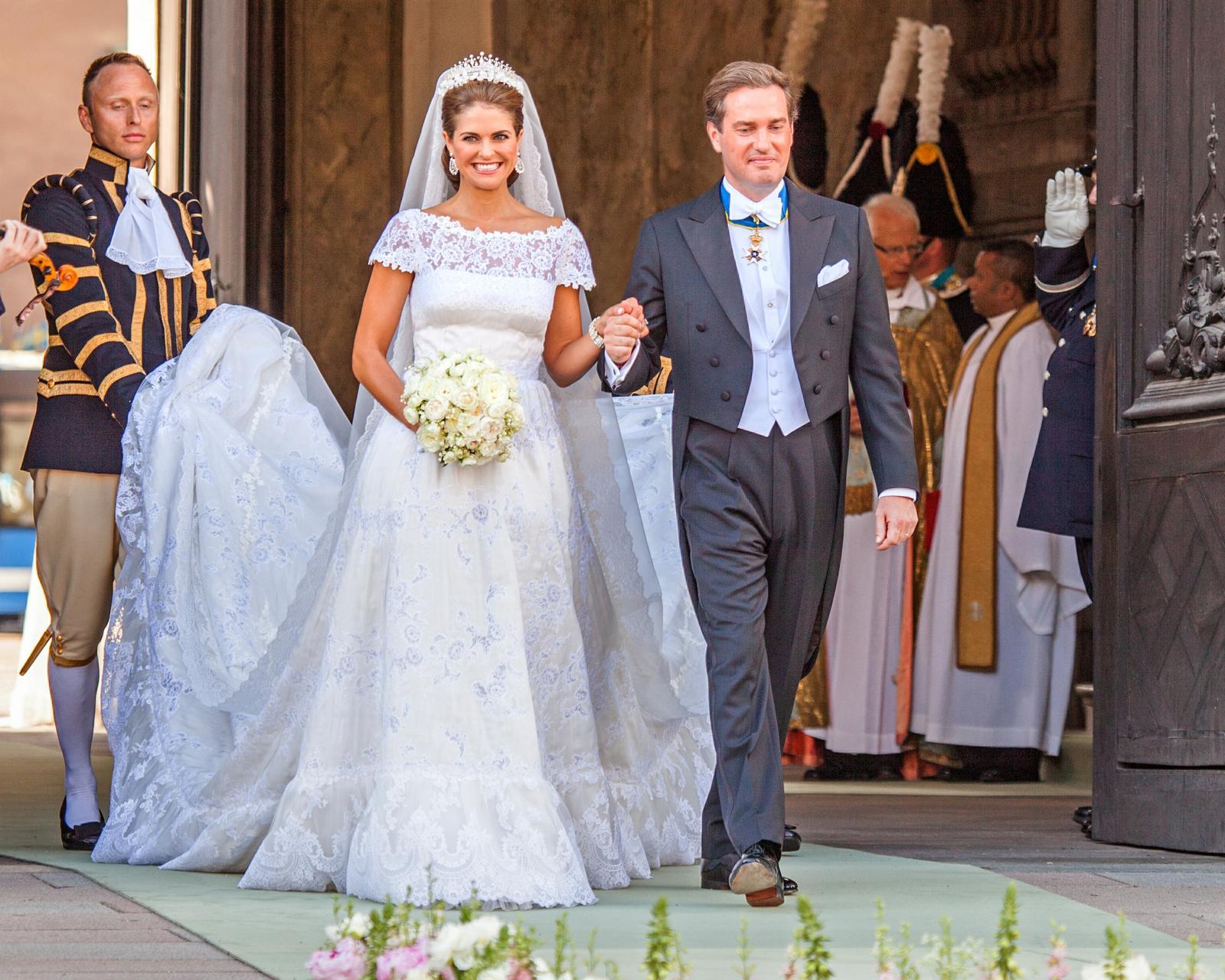 Svadby známych - švédska princezná Madeleine