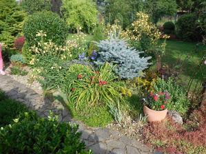 Záhrada v lete