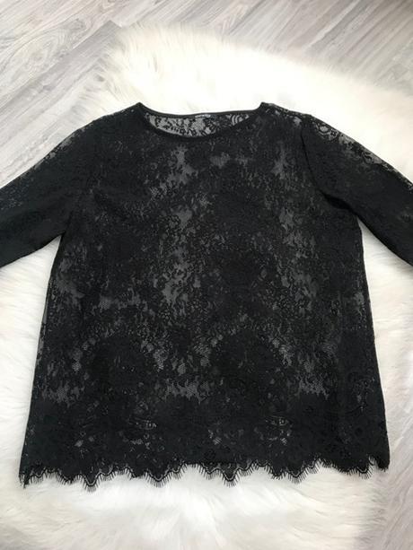 Nenosený dámsky čipkovaný čierny top značky Orsay - Obrázok č. 2