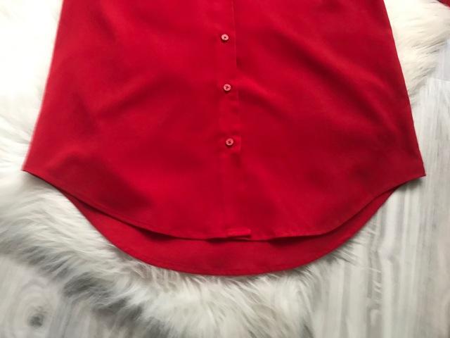 Nenosená dámska červená blúzka značky Mango - Obrázok č. 4