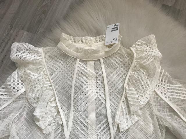 Dámska biela blúzka značky H&M ešte s visačkou - Obrázok č. 2