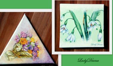 jarné  kvety na plátne