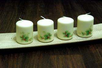 decoupage sviečky