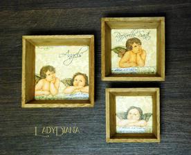 vianočné misky :) Trio Angels