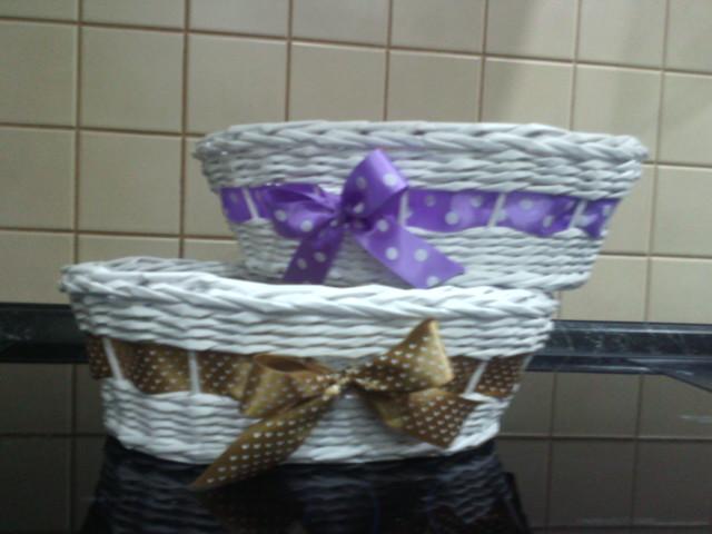 Pletenie z papiera košíky a tácky - Obrázok č. 49