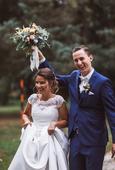 Jednoduché svadobné šaty - šité na mieru, 36