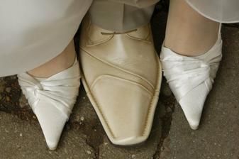 naše svadobné topánočky
