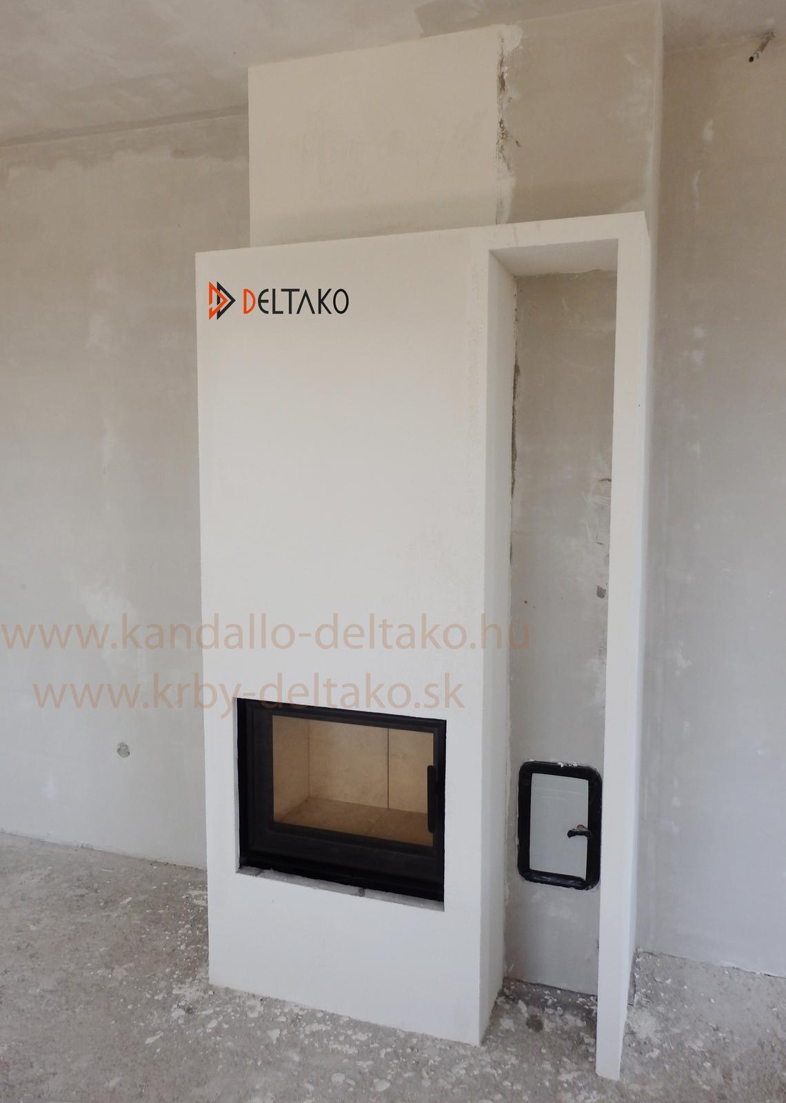 Rovný krb Deltako I60 - Kompaktné riešenie s veľkou vykurovacou hodnotou. Deltako I60. www.krby-deltako.sk