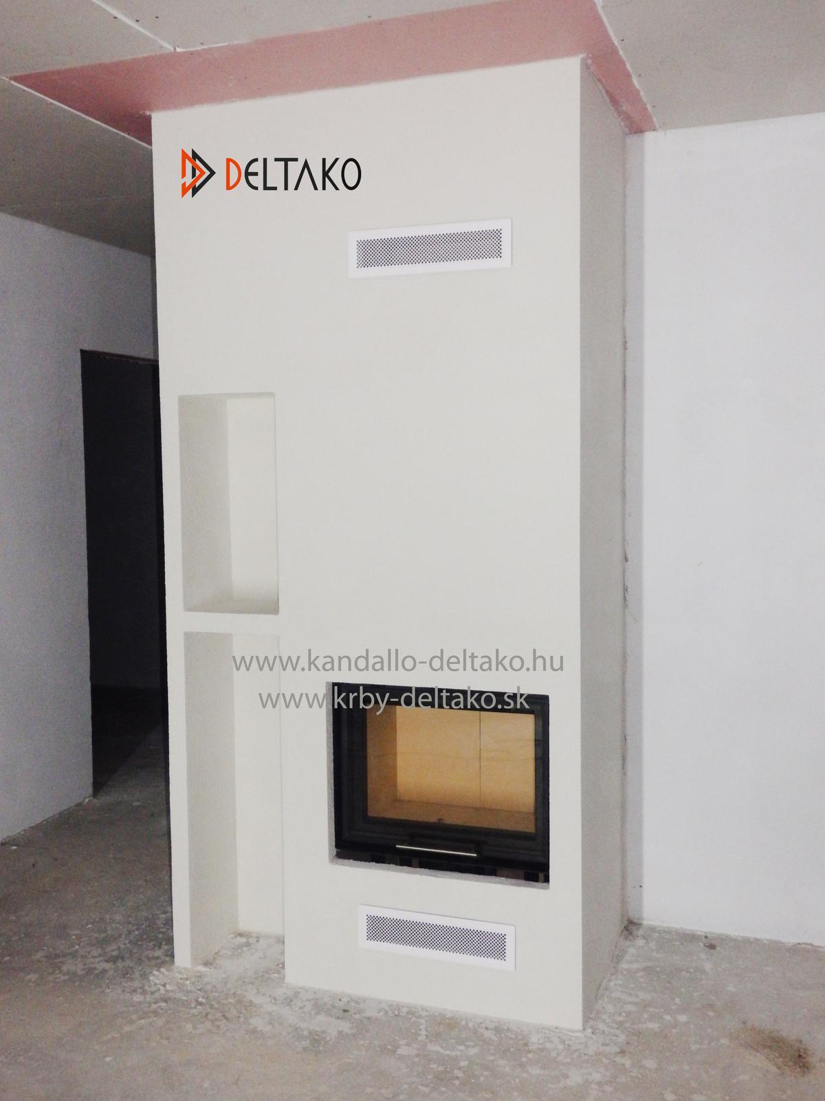 Rovný krb Deltako I60 - Osvedčená klasika v menšom prevedení. Deltako I60 www.krby-deltako.sk