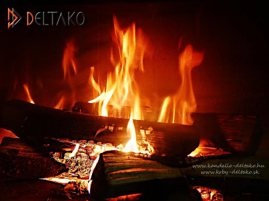 Rohový krb Deltako L80 - Jedna rada proti tejto zime. My sme už zakúrili www.krby-deltako.sk