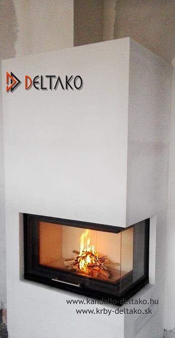 Rohový krb Deltako L80 - Ako očariť návštevu? Niektorí už to vedia. Deltako L80. www.krby-deltako.sk
