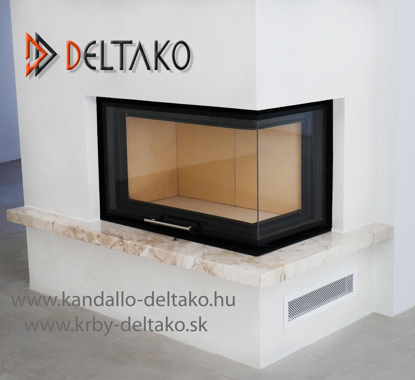 Rohový krb Deltako L80 - Vytvorili sme krb podľa Vašich predstáv. Deltako L80. www.krby-deltako.sk