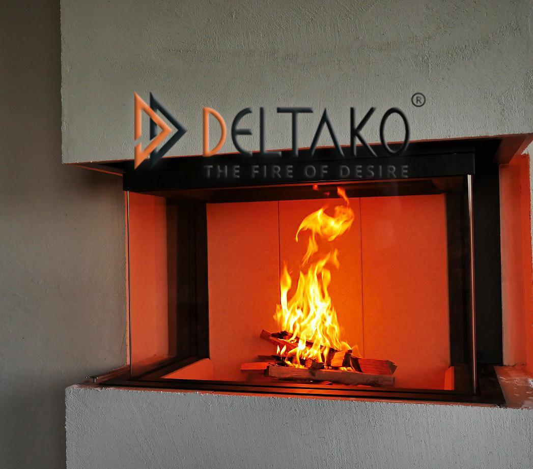 Deltako Triton 10 - Pre milovníkov ozaj vysokých plameňov - Plamene už aj z málo dreva siahajú až po hornej časti vložky, ktorá má viditelnú výšku 55cm