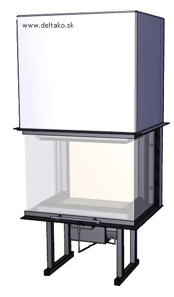 Trojstranný krb Deltako C60 - Obrázok č. 1