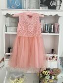 Starorůžové šaty pro družičku, 140
