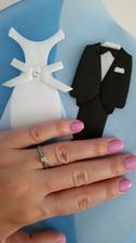Můj krásný prstýnek. Přítel mě zaskočil, jak nádherný vybral :) Jsem z něj nadšená a už více než měsíc se kochám jeho krásou.