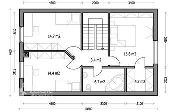 a patro Harmonie 1 - uvidíme, jak bude vypadat v reálu podle sklonu střechy...
