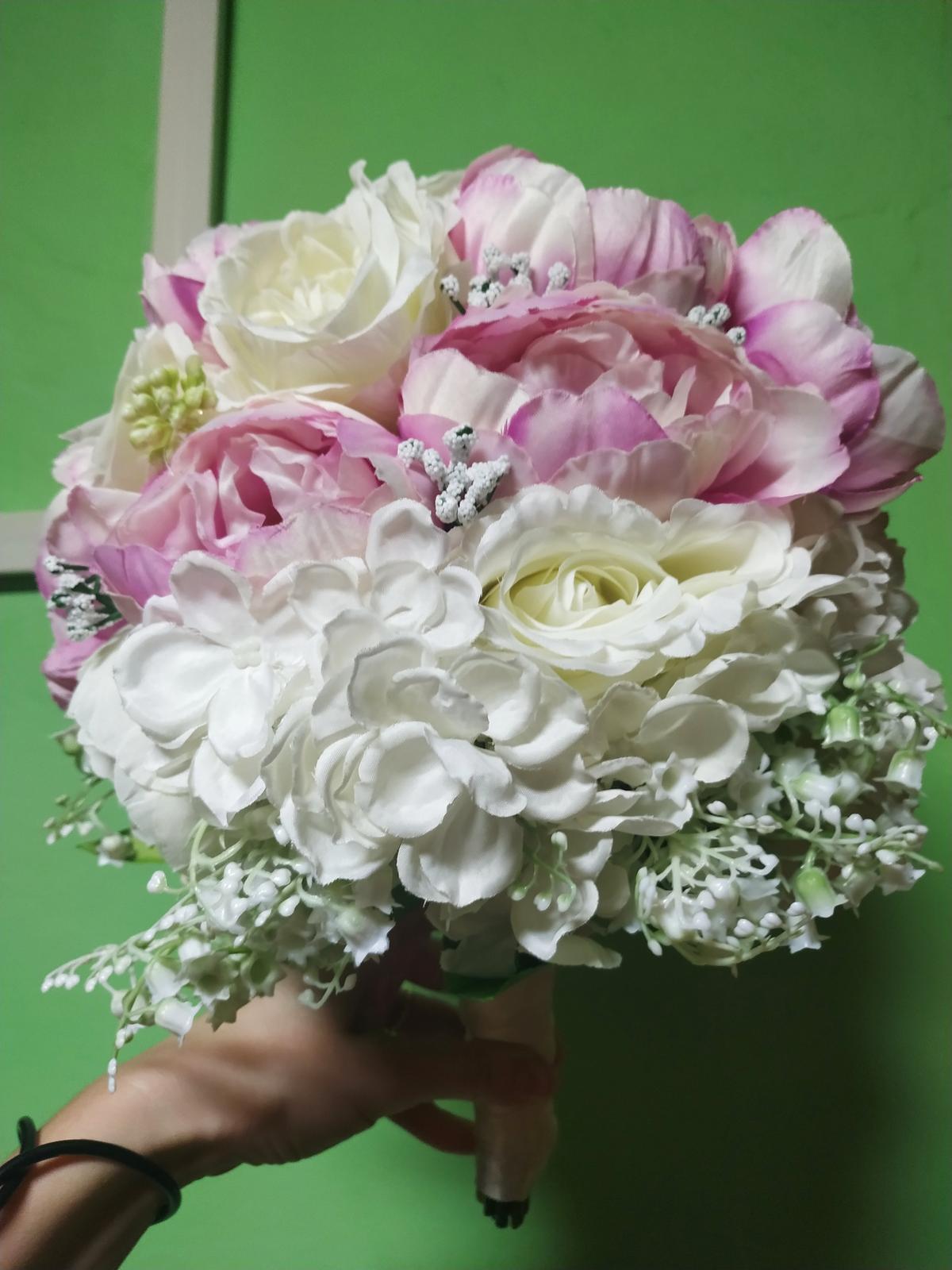 svadobná kytica + pierko pre ženícha - Obrázok č. 3