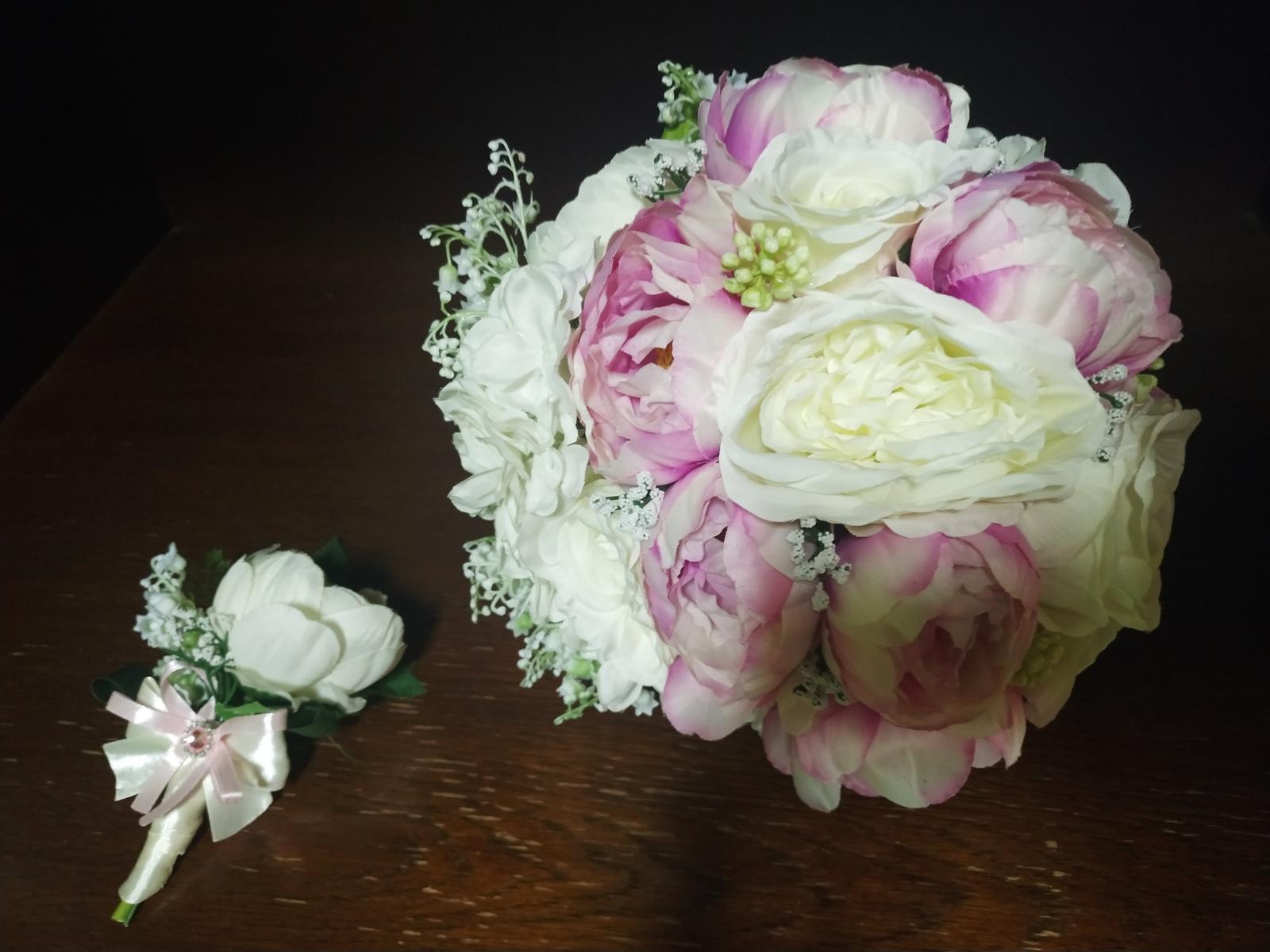 svadobná kytica + pierko pre ženícha - Obrázok č. 4
