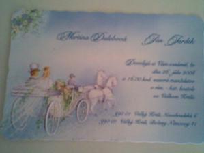 Naše svadobné oznámenie ...