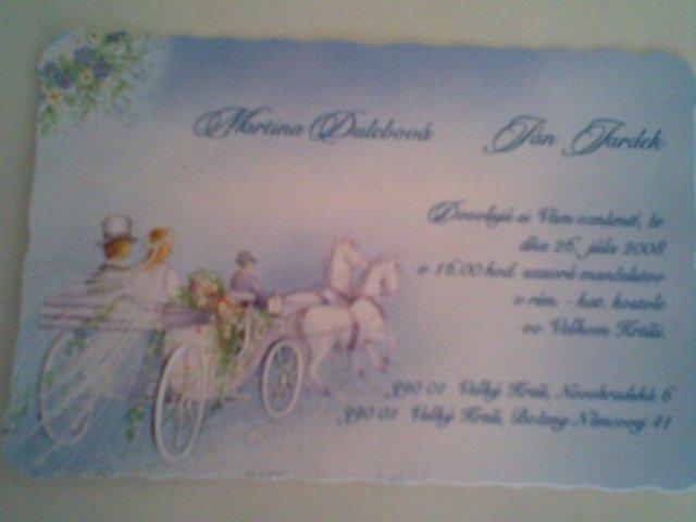 My dvaja - Naše svadobné oznámenie ...