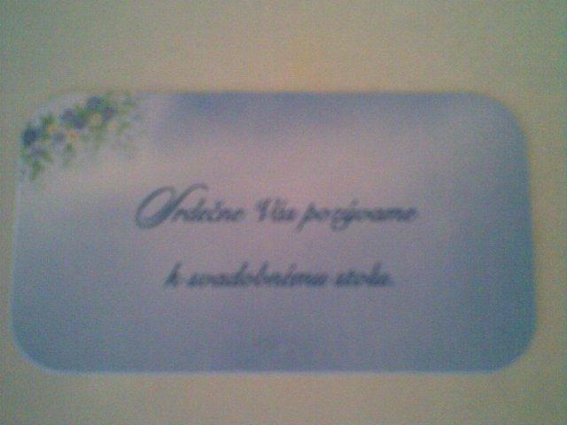 My dvaja - ... a pozvánka