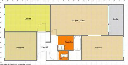 plánek našeho bytu