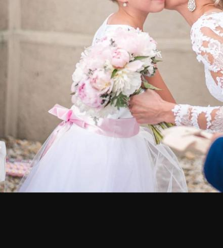 Šaty na svadbu,sv.prijímanie,dĺžka 125 cm - Obrázok č. 1