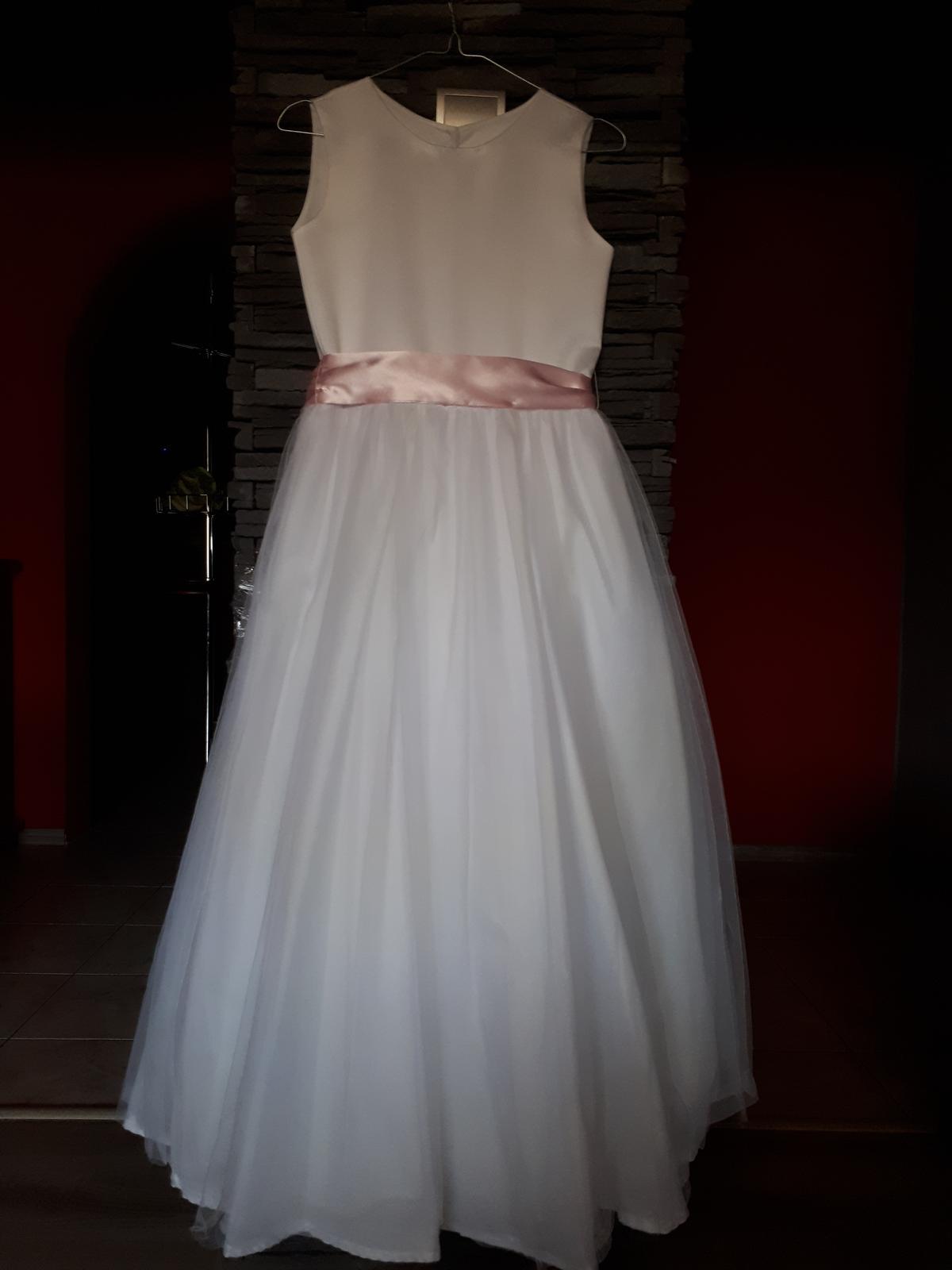 Šaty na svadbu,sv.prijímanie,dĺžka 125 cm - Obrázok č. 4