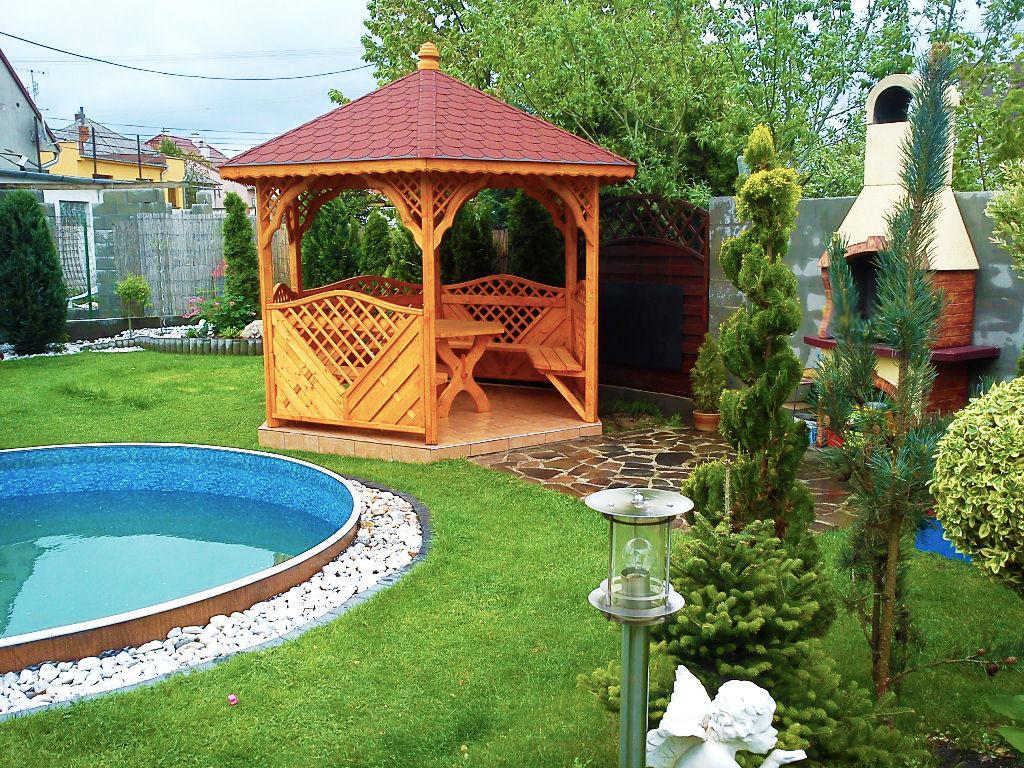 Záhradný altánok ktorý zaručene skrášli každú záhradku - Záhradný altánok s posedením za bezkonkurenčnú cenu 1 000€.