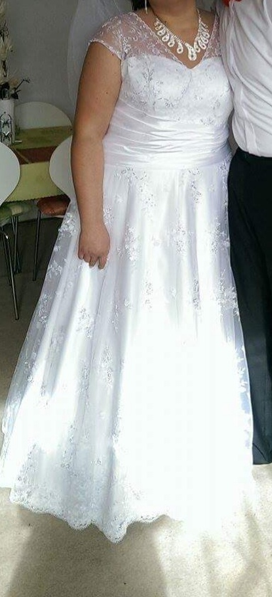 Svadobné šaty pre moletku 46-52 - Obrázok č. 1
