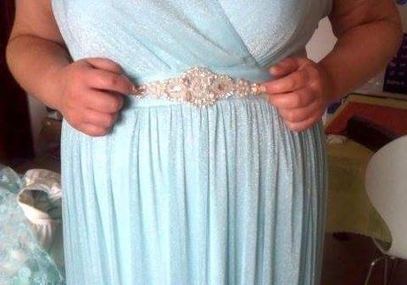 Tyrkysové šaty s čipkovaným bolerkom - Obrázok č. 4