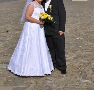Krásne svadobné šaty 46-52 - Obrázok č. 1