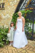 svatební šaty Madora,s výšivkou vel. 44až48, 46