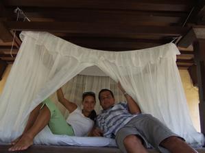 na svatební cestě - ostrov Gilli Trawangan, kam jsme s Bali přeletěli a zůstali tam další týden.