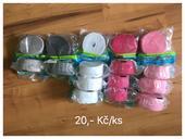 Krepové stuhy 16 ks (bílé, růžové, šedé stříbrné),